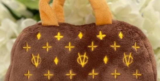 Chewy Vuitton Handbag Parody Plush Dog Toy