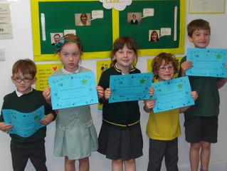KS1 CARE Certificate winners