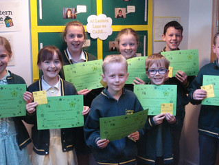 Key Stage 2 CARE Certificates Summer 1