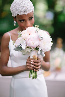 BLACK BRIDE AT A NEW YORK WEDDING VENUE PLANNED BY MIAMI AND NEW YORK GUERDY DESIGN DESTINATION WEDDING PLANNER
