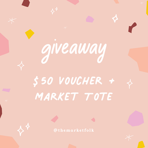 Win! $50 Market Voucher + Tote