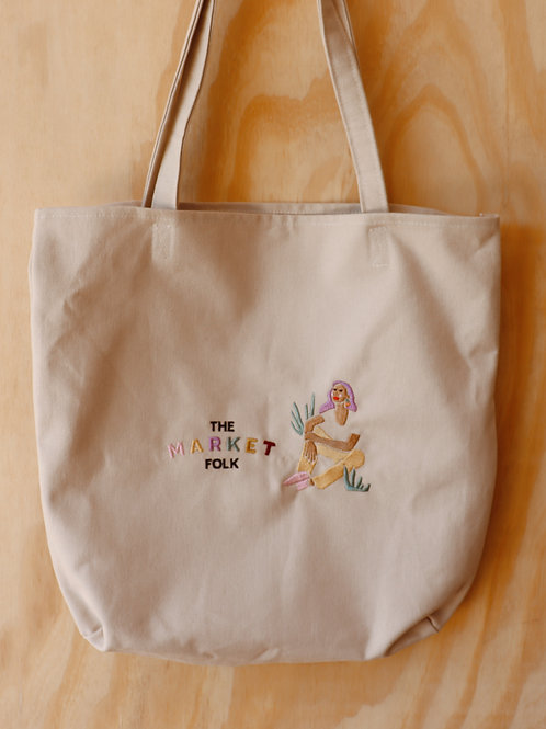 Market Tote - Logo Emroidery