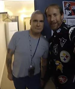 Henry Rollins & myself before his Spoken Word Night in Lismore, N.S.W. Australia where we met up.