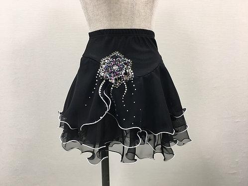 ブラック・デコレーションスカート