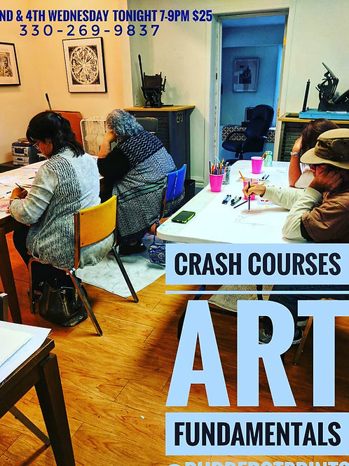 Crash Courses: Art Fundamentals Thursdays Fall 2019 7-9pm