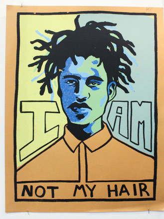 Self Portrait, Not My Hair - by Alex Couch