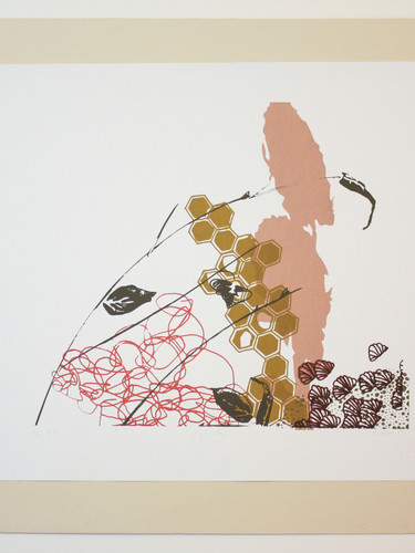 Untitled 2, Red - by Mary Shonnett Nemeth