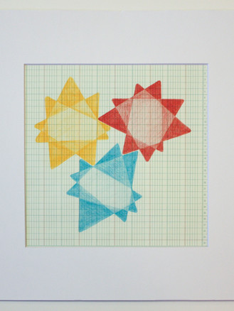 Drawings on Ledger, Print #2 - by Valerie Dillon