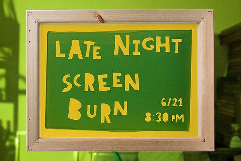 Late Night Screen Burn
