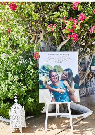 WEDDING IBIZA | WELCOME BOARD