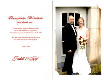 Ein Hoch auf das glückliche Brautpaar!