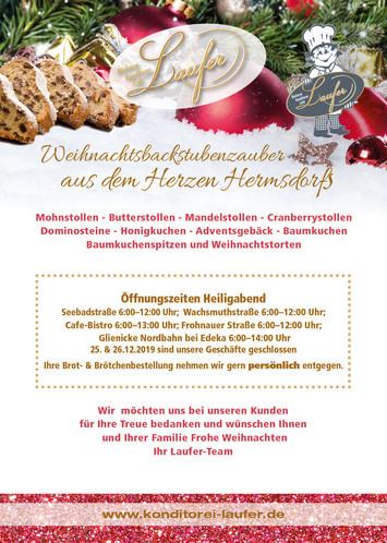 HO HO HO! Unsere Weihnachtsöffnungszeiten!