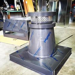 #chimneypot #sheetmetal #tinknocker #klingfab #darkbronze #aluminum #custom