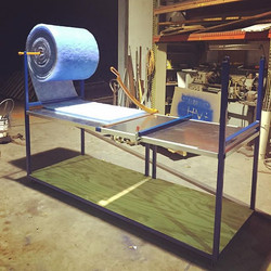 Custom filter cutting table for an HVAC friend of mine