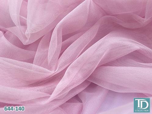 644-140 Тюль сетка (Розовый оттенок)