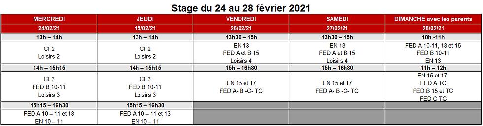 IMPORTANT ! : Stage de février 2021 --> Ca change !