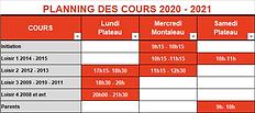 Planning Loisirs et Adultes - 2020/2021