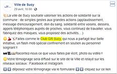 Défi'Confi 10  ! La ville de Sucy parle de nous !