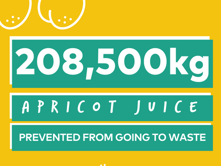 Yume Highlights: 208 Tonnes of Apricot Juice.