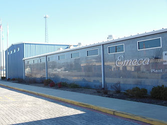 Emeca manufactures pile splices for concrete piles in our factory in Laurel Delaware