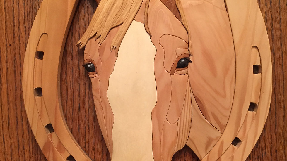 Horse and Horseshoe Wall Hanging