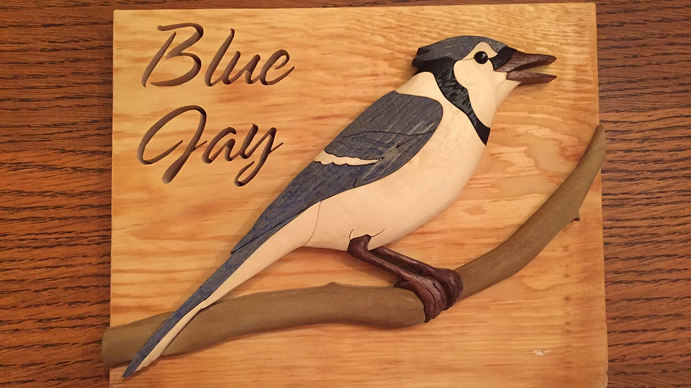 Blue Jay Wall Hanging