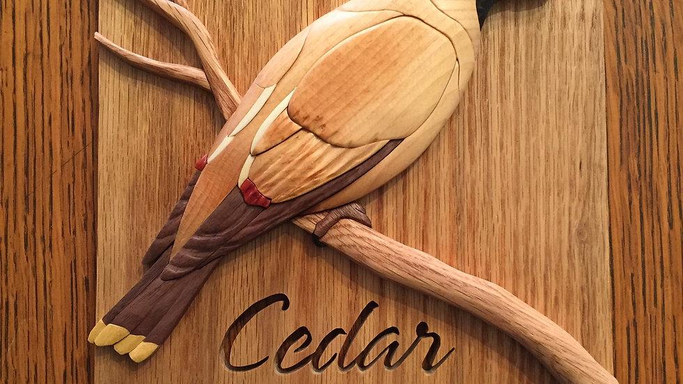 Cedar Waxwing Wall Hanging