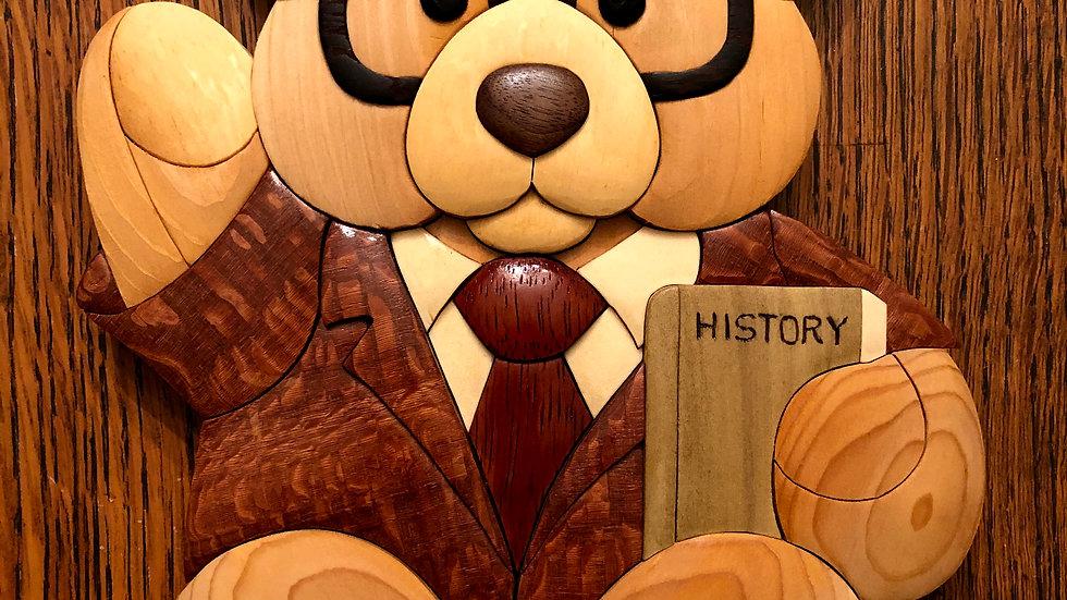 Professor Bear Wall Hanging