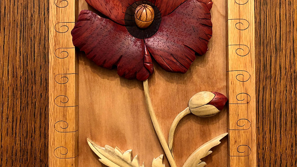 Poppy Flower Wall Hanging