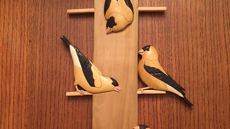 Gold Finch Feeder Wall Hanging