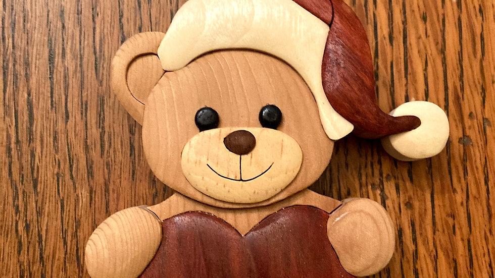 Heart Bear Ornament
