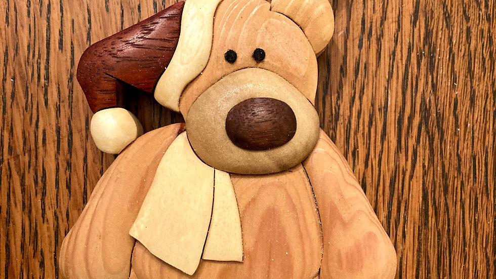Teddy Bear Santa Ornament