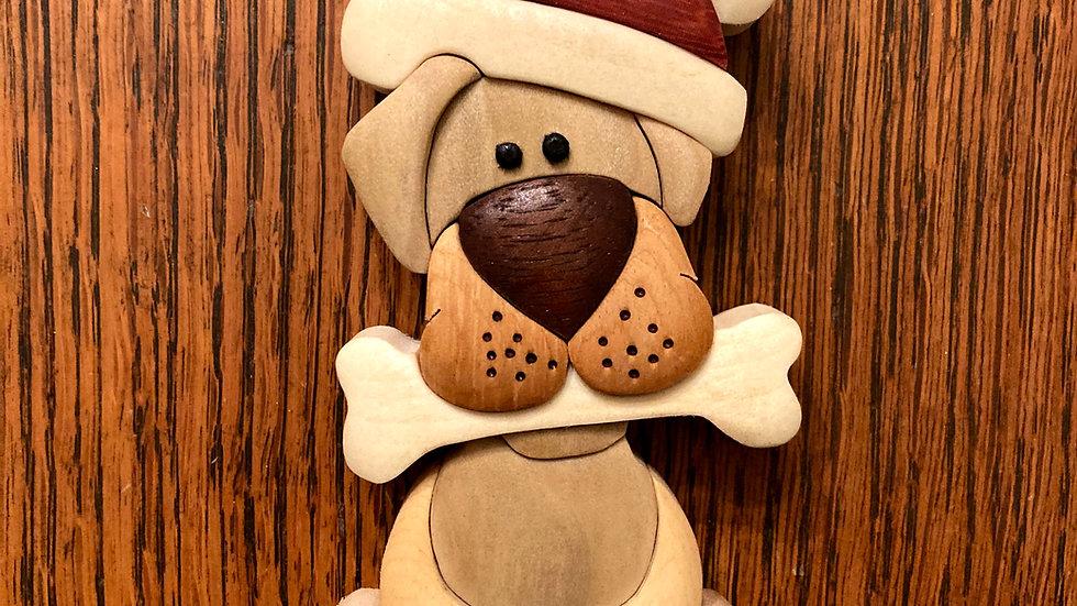 Santa Dog Holiday Ornament