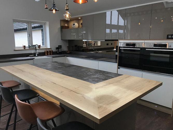 Clients Handleless Kitchen In Worksop