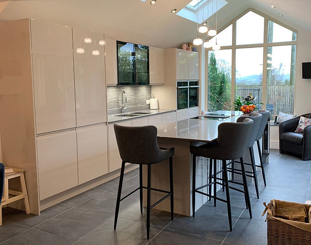 Clients Handleless Kitchen Design With Island
