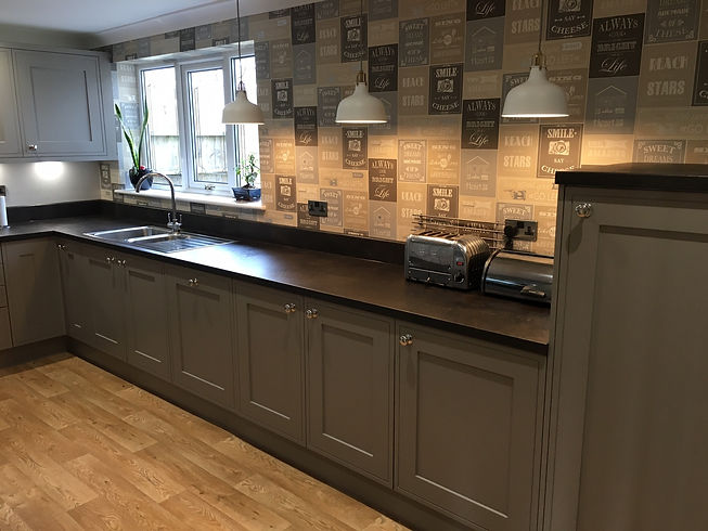 Clients Painted Inframe Effect Kitchen
