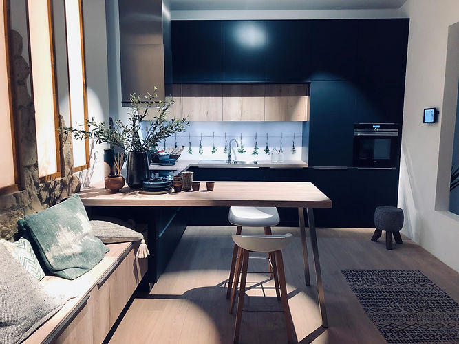 German Lacquered & Timber Kitchen