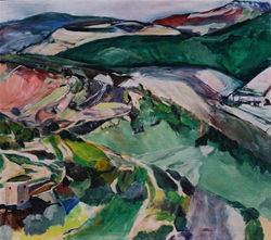 Hills, a view from the bypass,1996
