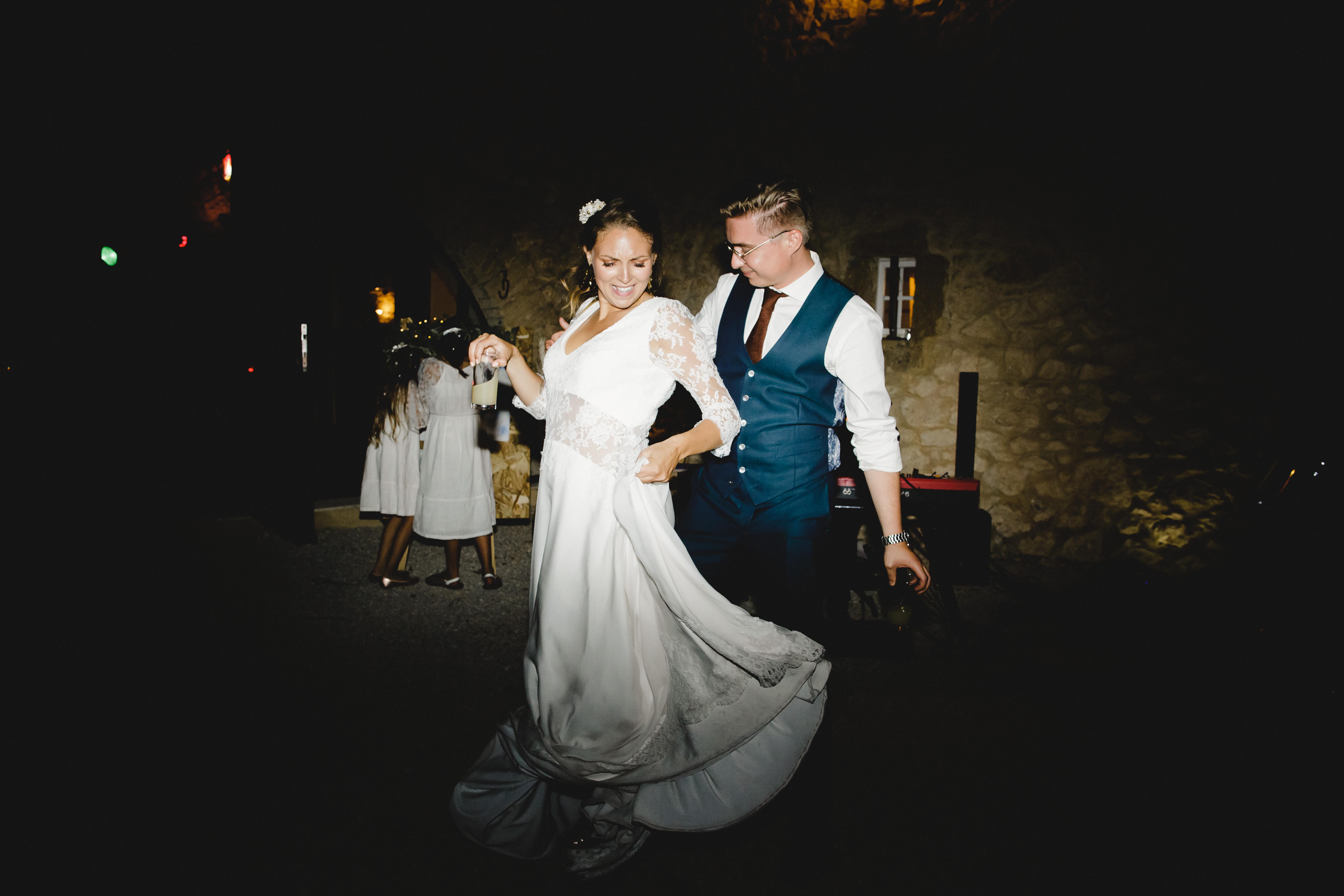 Danse sur la terrasse avec le duo