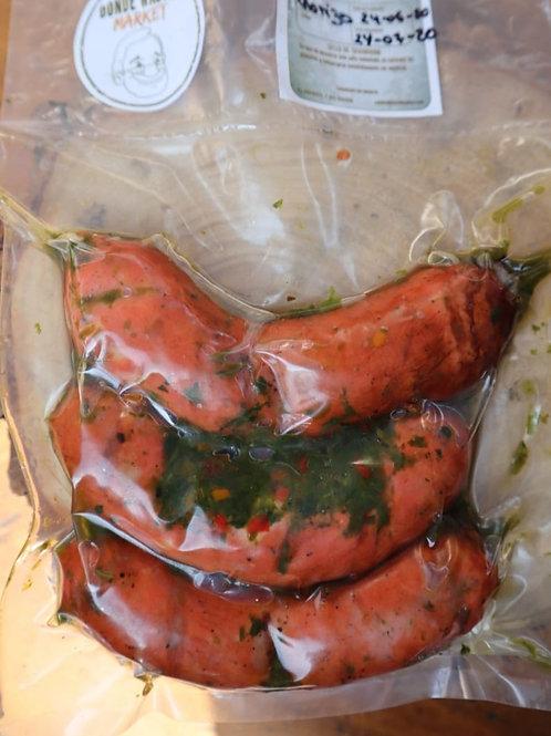 Chorizo ahumado con Chimichurri - 3 Unidades