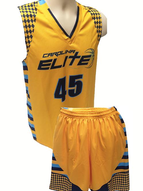 CE travel team showcase uniform - gold