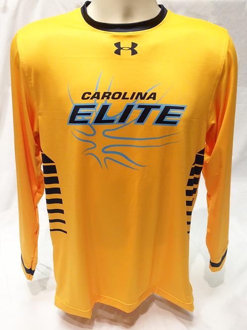 CE UA long sleeve shooting shirt - gold