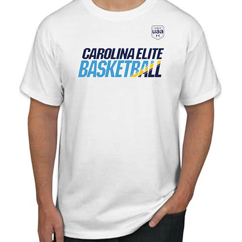 CE UAA THEMED TEE - white only