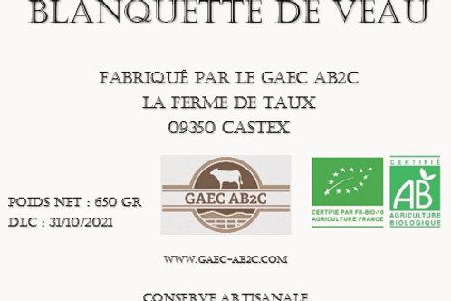 Blanquette de Veau - Plat Cuisiné en Conserve