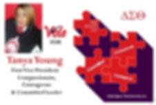 Young, Tanya F. Campaign Postcard 2020 .