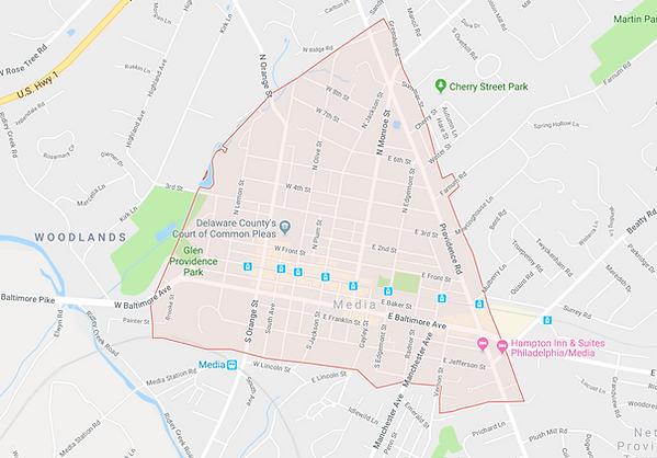 Map of Media Borough