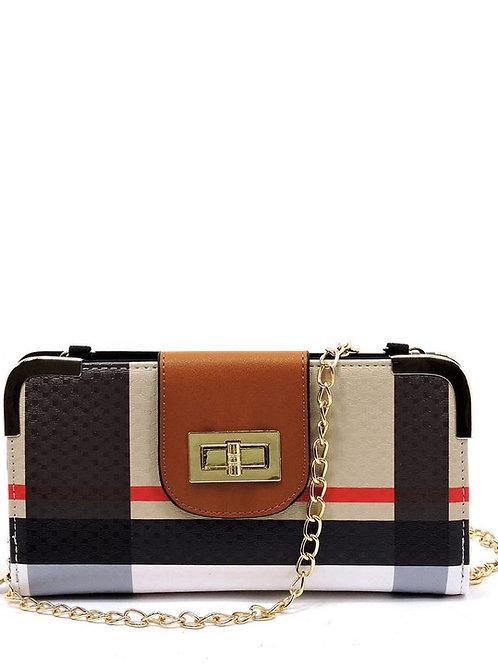 Plaid checker wallet