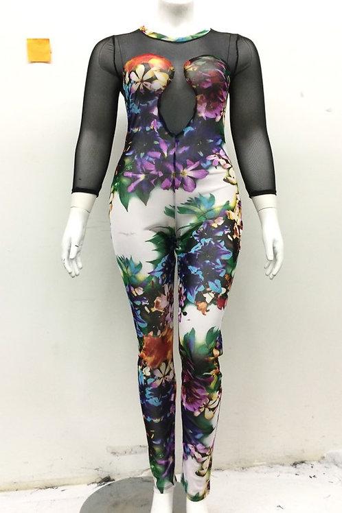 Multi-Color Plus size Jumpsuit