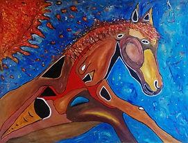 PNT0013 - Cosmic Horse - R 7 500 - 900 x