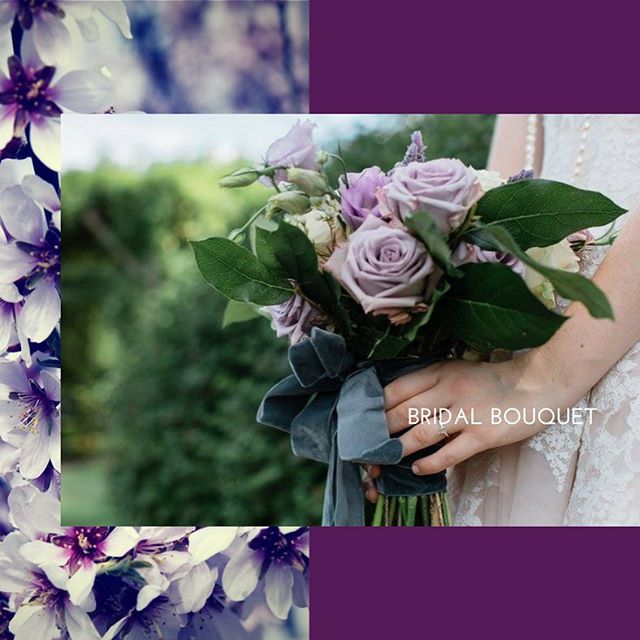Lovely in lavender #bridalbouquet The scent of lavender is very calming but even the color has the s